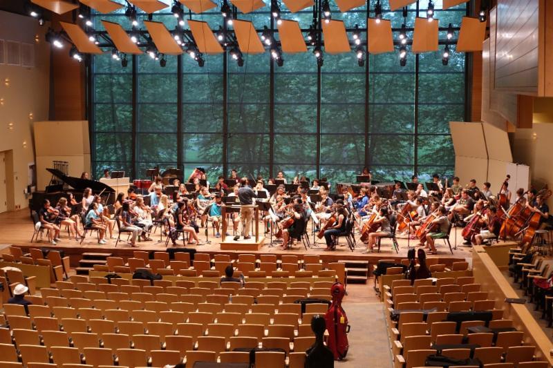 NYSSSA orchestra rehearsal