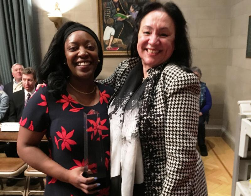 Aja Brown and Chancellor Rosa