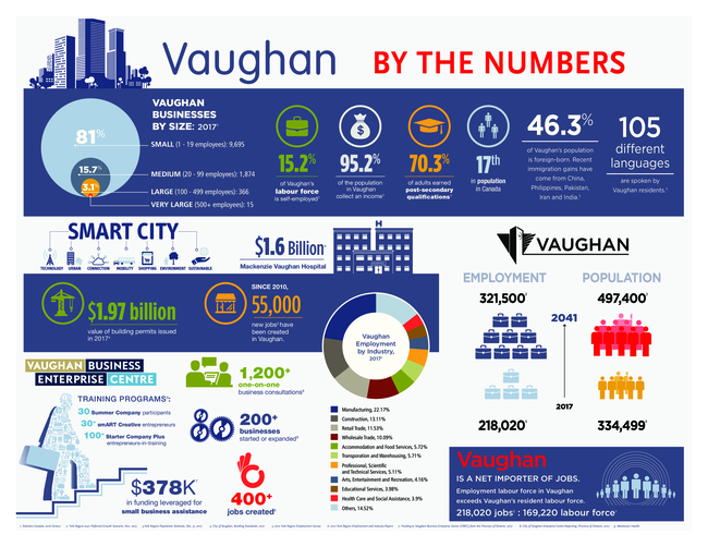 Vaughan by the numbers infographic
