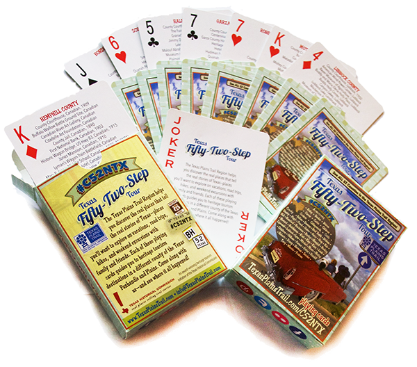 Texas Fifty-Two-Step deck of playing cards