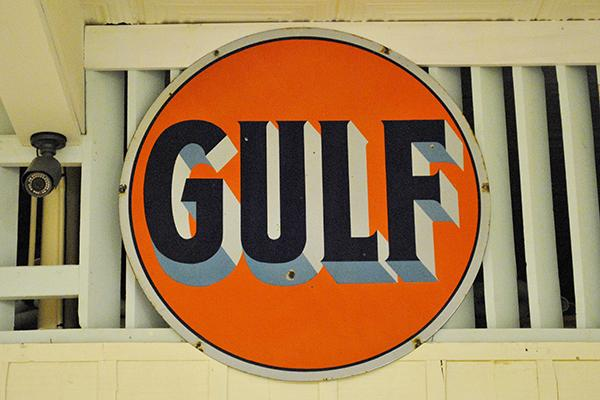 Gulf Oil sign_ Hutchinson County Historical Museum