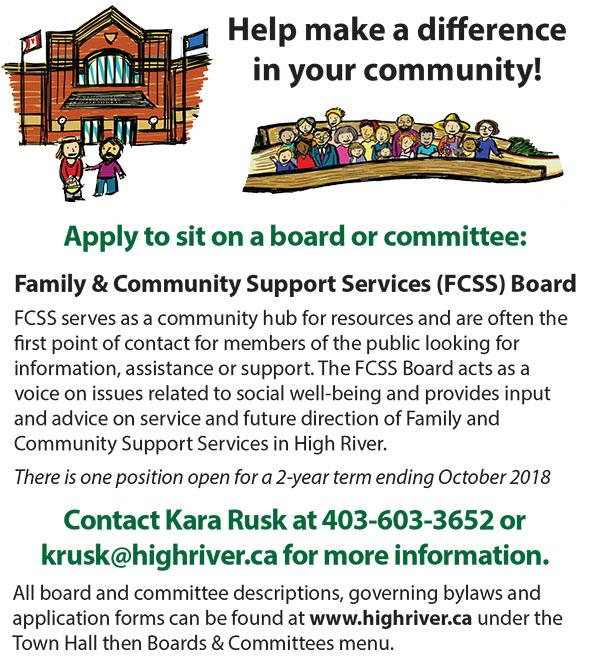 Apply for FCSS board