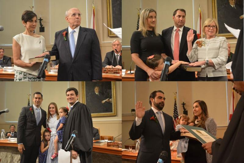 four new commissioners swearing in
