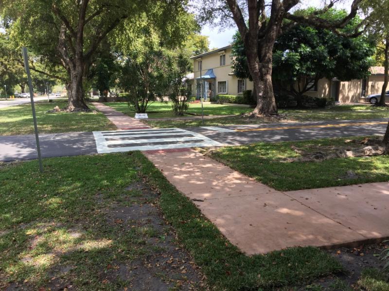 pasos peatonales para crucar las calles