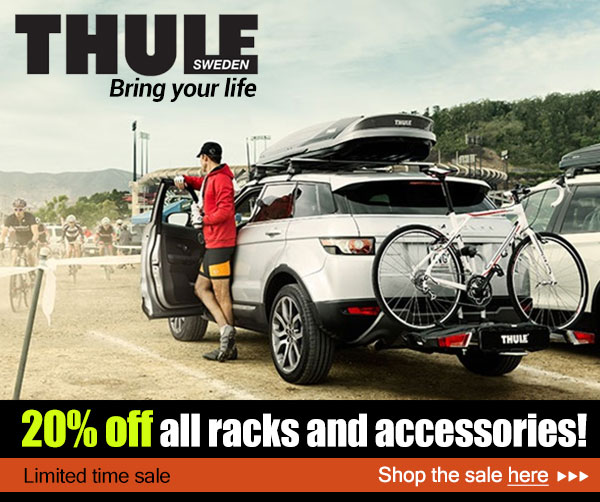 20_ off all Thule racks and accessories