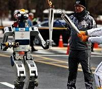 KAIST HUBO robot relaying Olympic torch