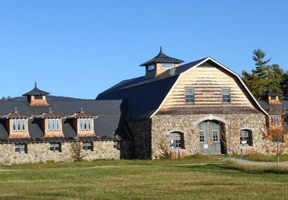 Photo of historic stone barn