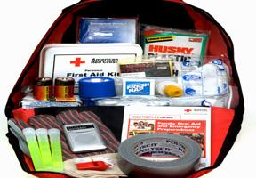 Photo of an emergency survival kit