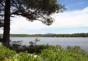 Photo of Sip Pond and Monadnock on the horizon by Anne McBride