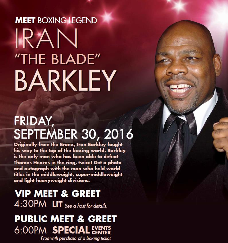 Former champ, Iran Barkley, to host meet and greet | NotiFight