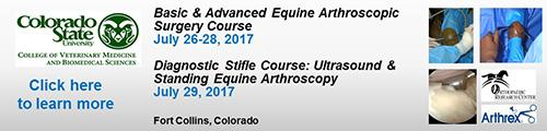 Colorado State University Arthroscopy courses July 2017