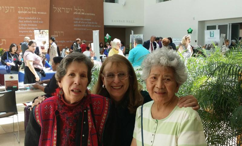 Three Cayuga neighbors at last years' JCC Resource Fair