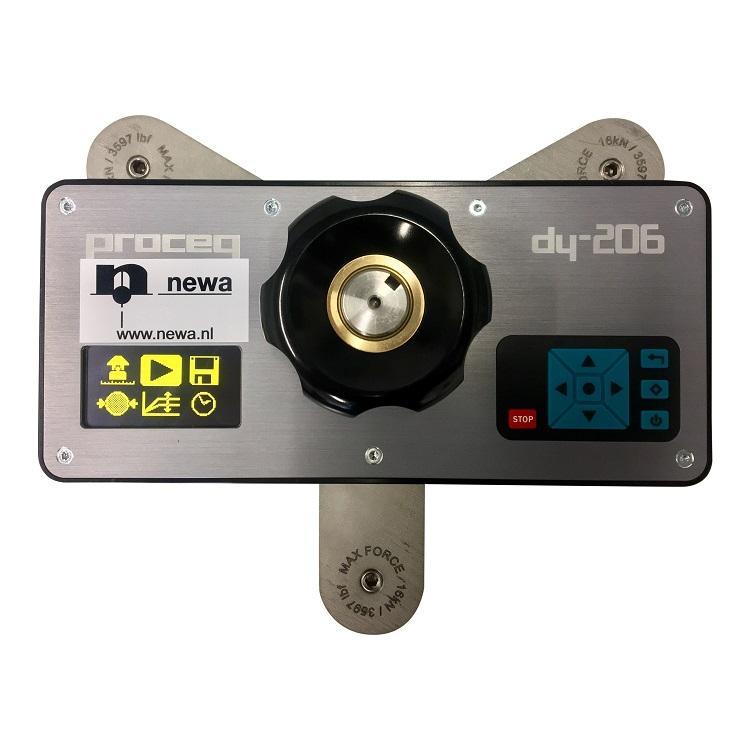 Hechtsterktemeter Proceq DY-206 met adapterplaat