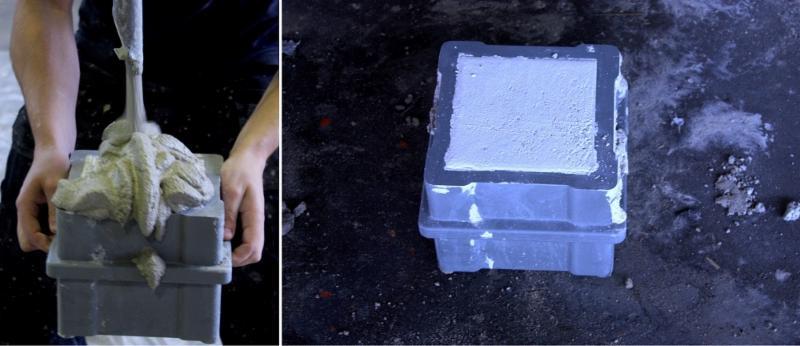 Newa kunstsof kubusmal in 3D-betonprinter