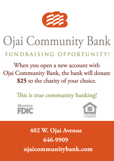 Ojai Community Bank offer