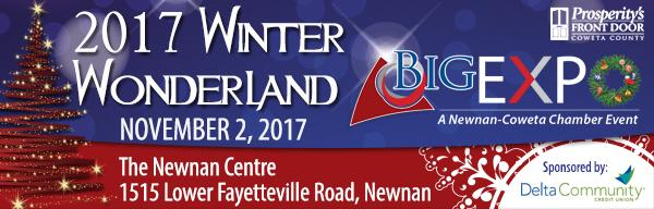 The most wonderful time of the year….Reserve your booth at Winter Wonderland Expo Nov. 2  Tue, Sep 19, 2017 9:03 am Newnan-Coweta Chamber (candace@newnancowetachamber.org)To:you Details  Having trouble viewing this email? Click here     Still time to save $50 with Early Bird Pricing!  Respond by Friday, September 22 to get the savings.