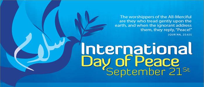 Intl Day of Peace Reminder ICCCC eBlast