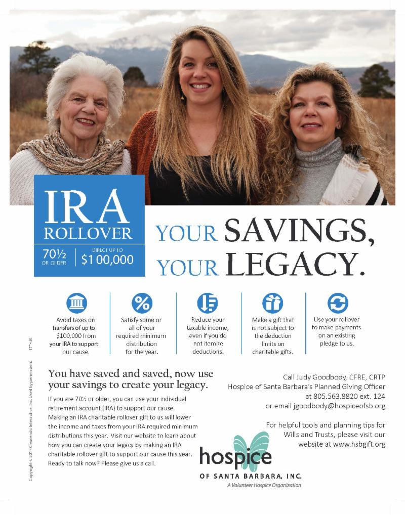 IRA rollover donation flyer