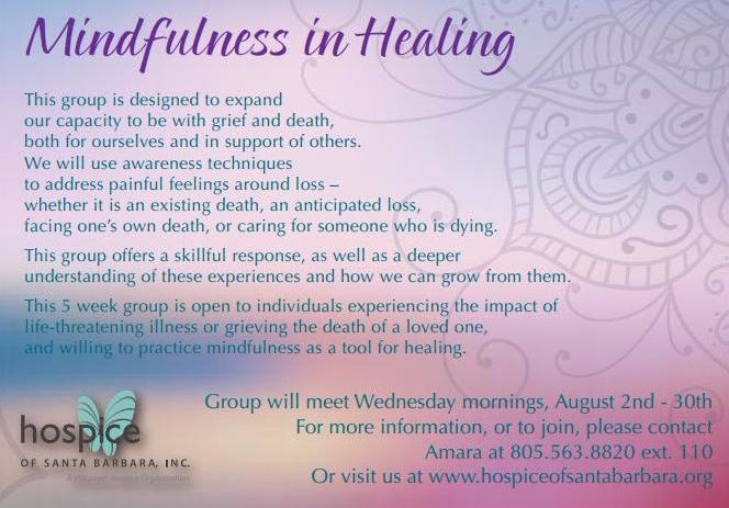 mindfulness in healing support group invite