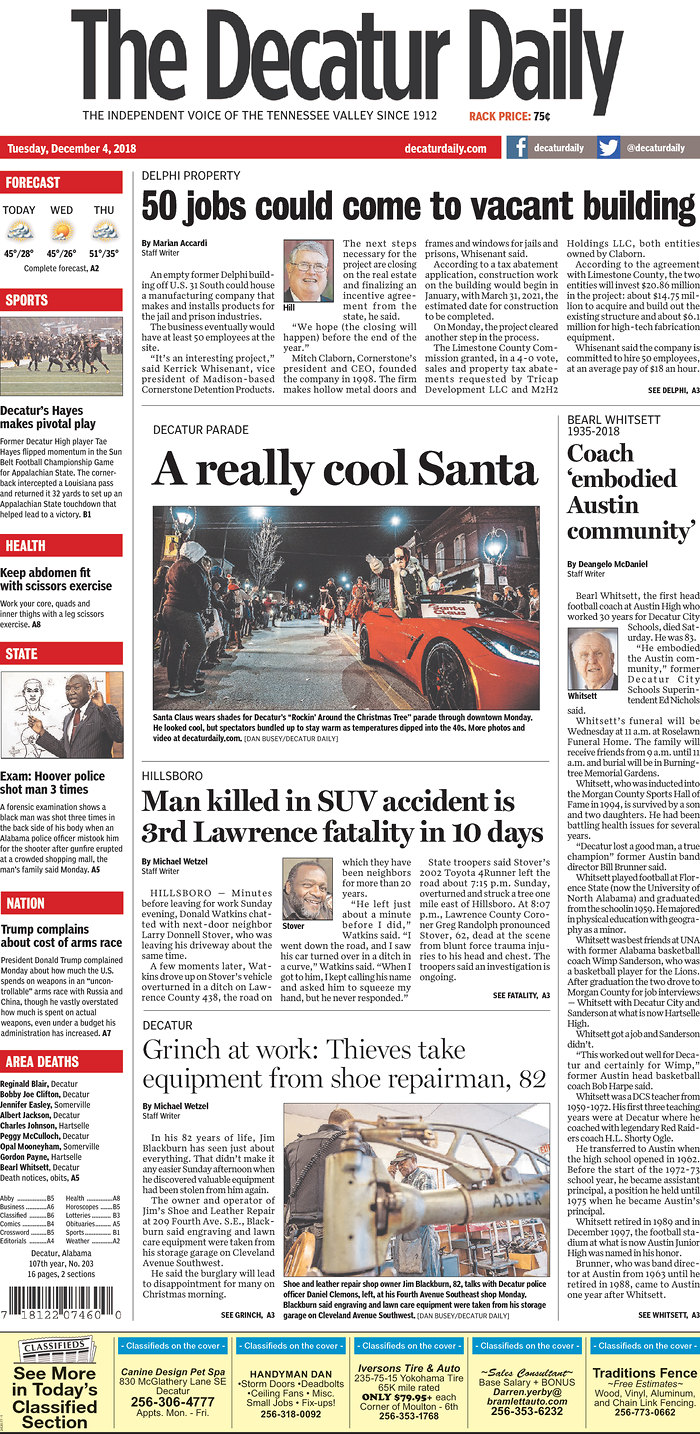 Front Pages (images link to newspaper websites, which you should visit and patronize)