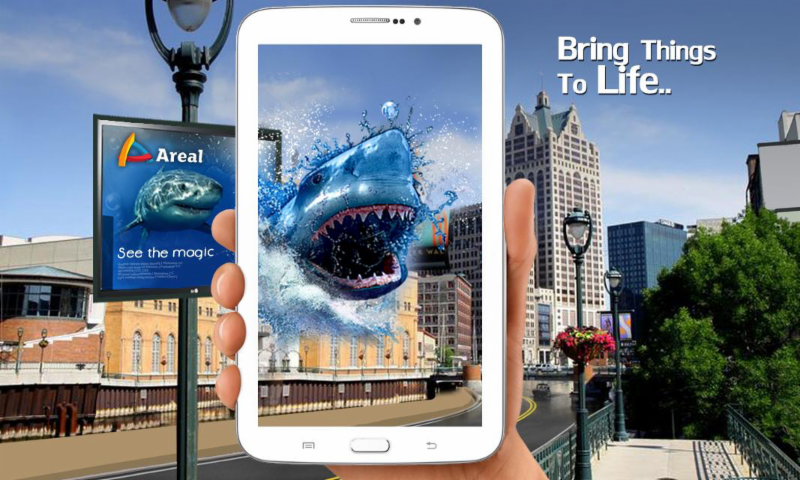 A representation of augmented reality for marketing.