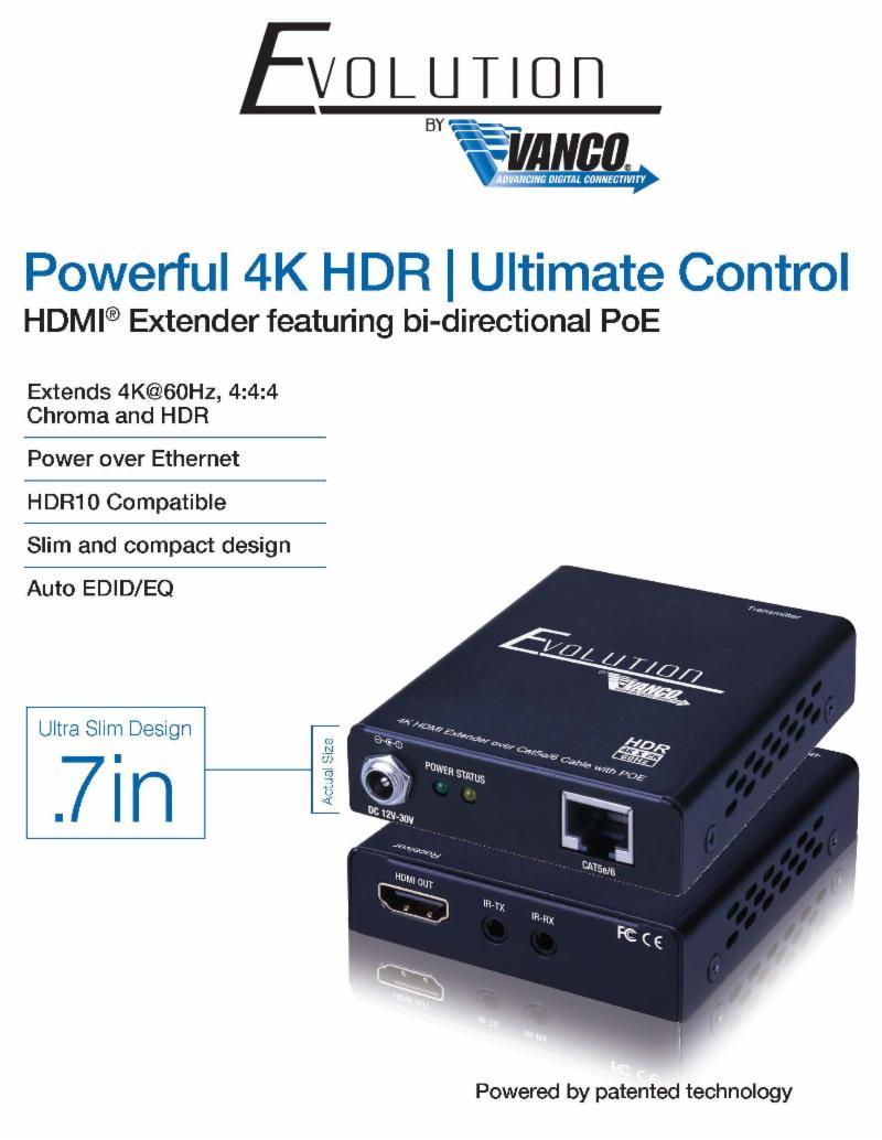 Vanco 4K HDR Extender
