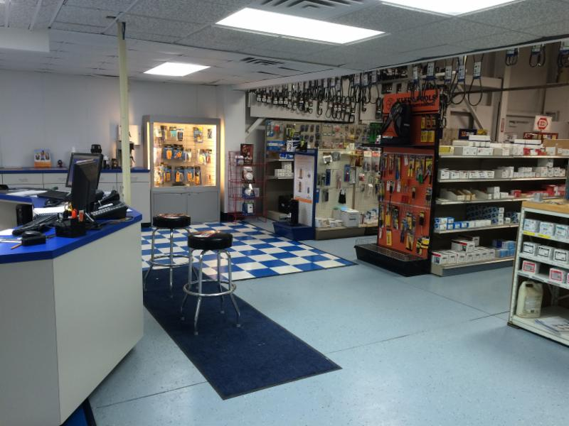 ... Newman Design Group Created A New Look For Their Showroom. The New Look  Incorporated A Blue And White Color Scheme, New Flooring, A New Custom  Sales ...