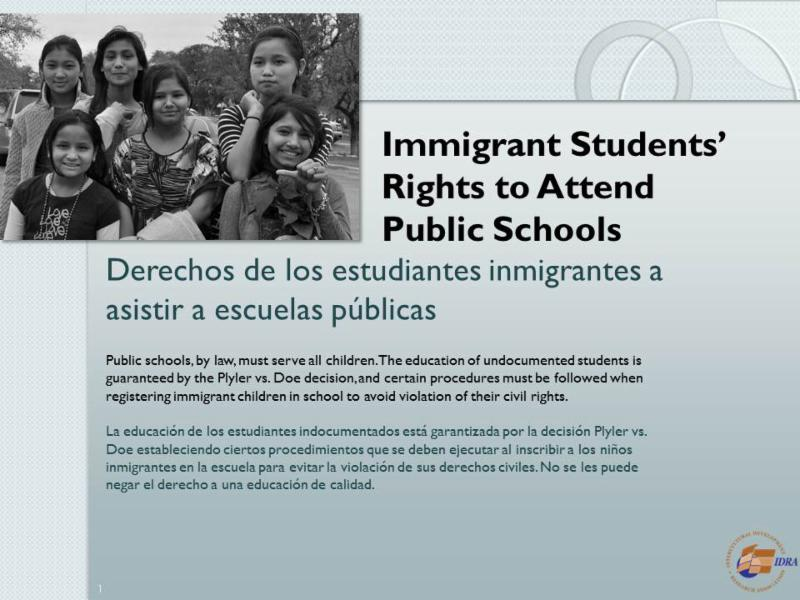 Ebook on rights of immigrant students
