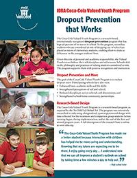IDRA Coca-Cola Valued Youth Program brochure