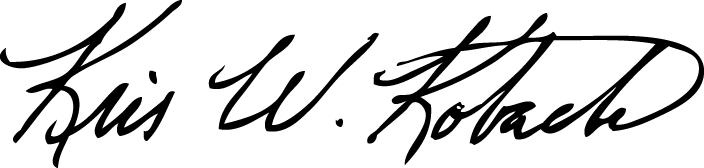 Kris W. Kobach signature