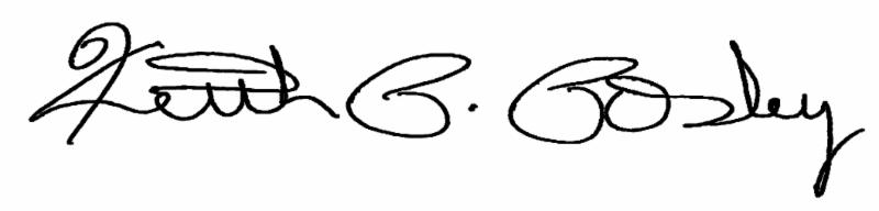 Keith Posley Signature