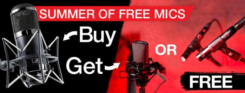 MXL Summer of Free Mics Promotion