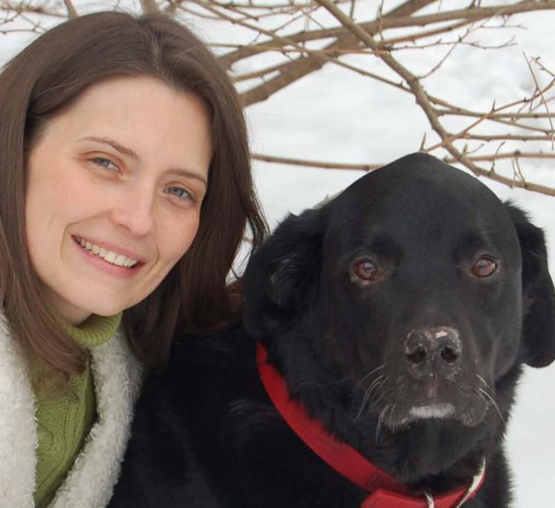 Courtney Protz-Sanders and Bubba