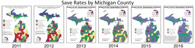 Save Rate Map 2011-2016