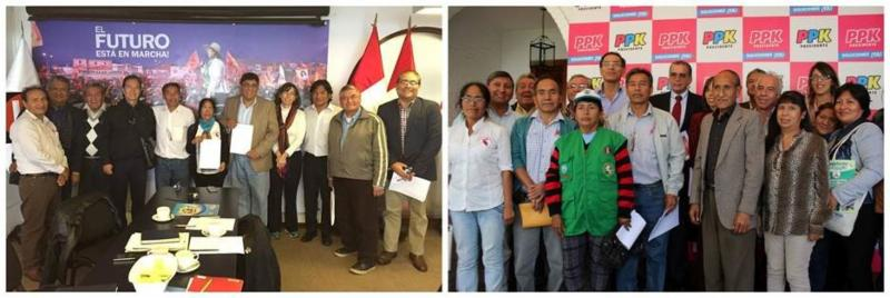 Informal Worker Delegation Gathers in Peru