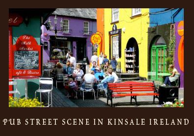Pub Street Scene in Kinsale Irleand