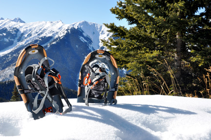 Snowshoes on Aspen Mountain