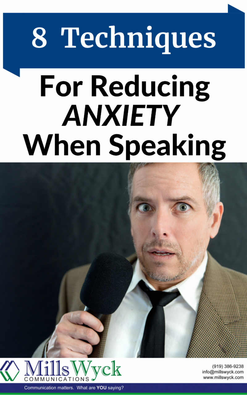 Man with anxiety public speaking