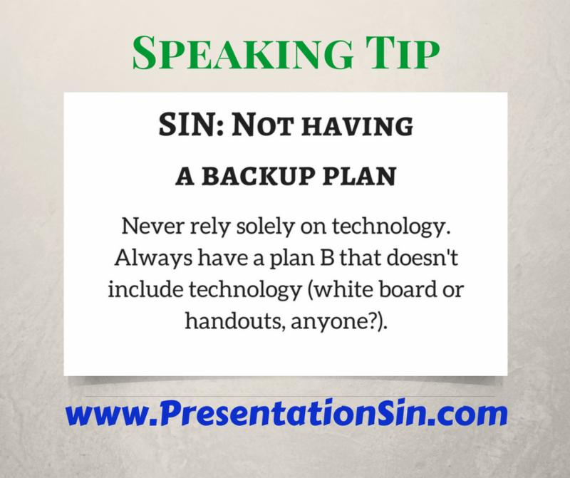 public speaking tip