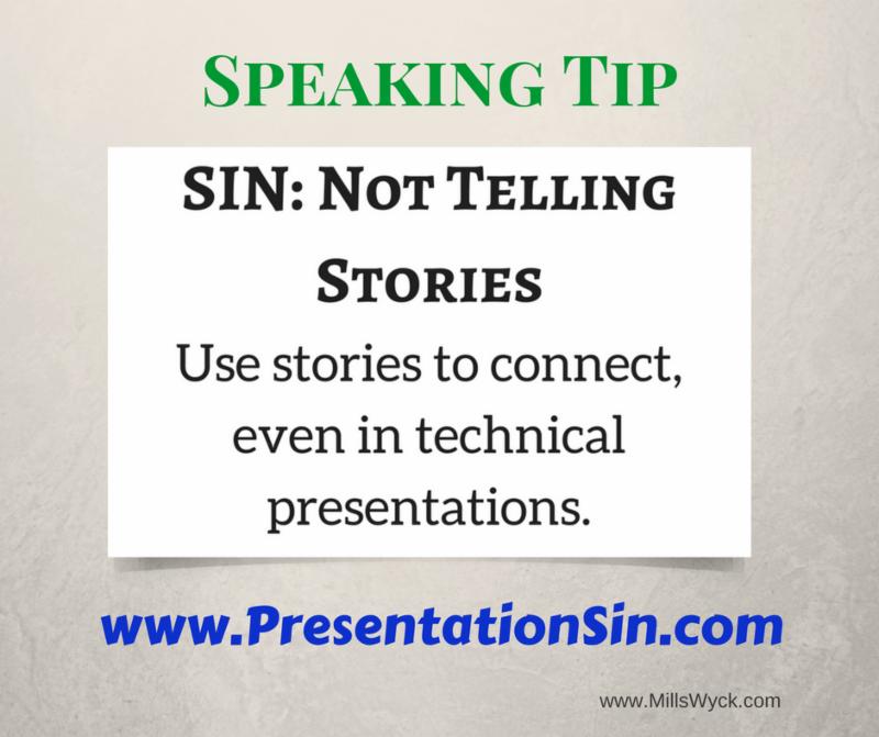 Speaking Tip Telling Stories