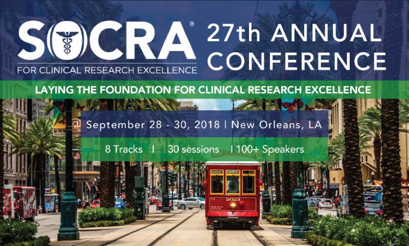 Socra 2018 Annual Conference Sept 28 30 New Orleans La Usa