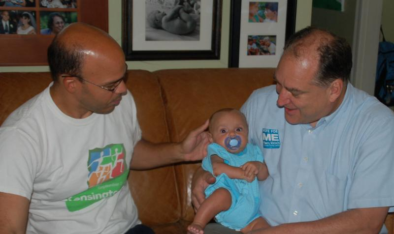 Marc Elrich with Al Carr and Oliver in 2010