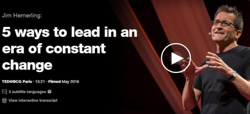 Ted Talk Change Leadership