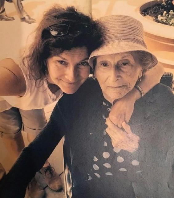 Zimbalist with her mother Hanna Gendler Rom Young