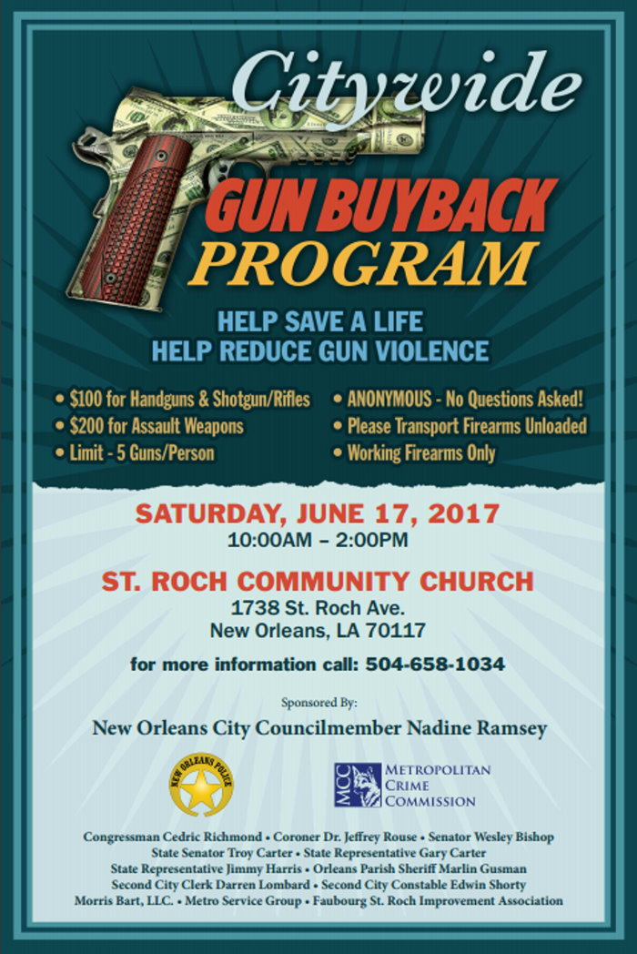 Councilmember Nadine Ramsey sponsors Gun Buyback Program