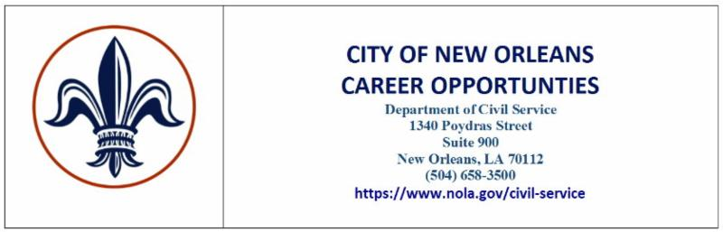 City of New Orleans Civil Service