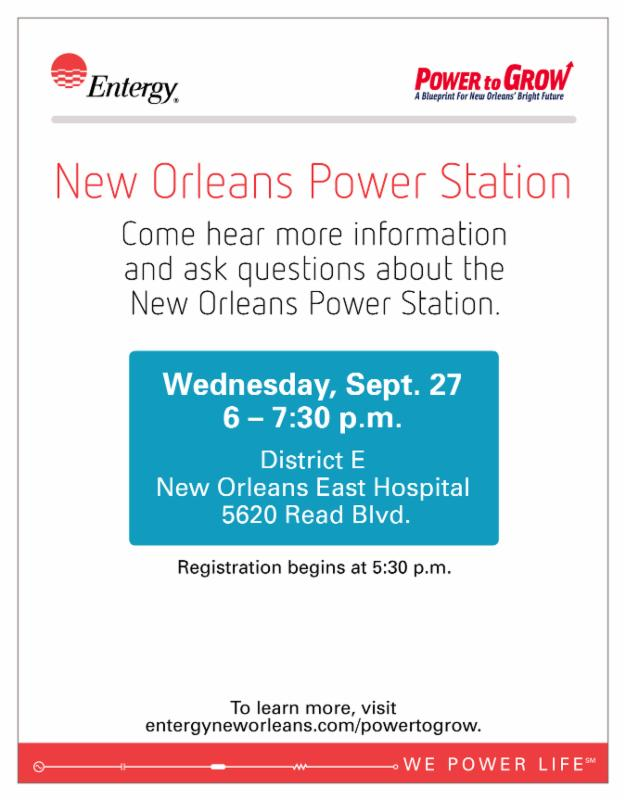 Entergy New Orleans Hosts Public Information Session on New