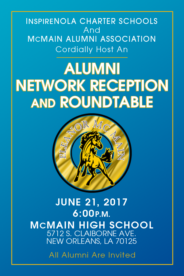 InspireNOLA To Host McMain Alumni Reception
