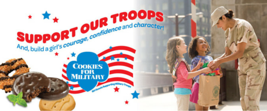 Donate Girl Scout Cookies for the Military