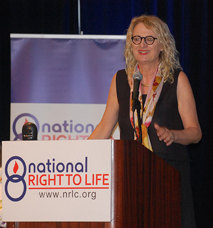 Ann speaking at the National Right to Life Convention earlier this year